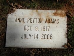 Anne <i>Peyton</i> Adams