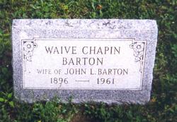 Waive <i>Chapin</i> Barton