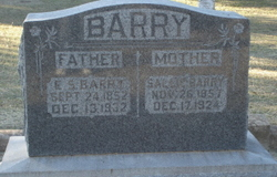 Sarah Frances Sallie <i>Wyatt</i> Barry