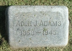 Addie J <i>Bertschy</i> Adams