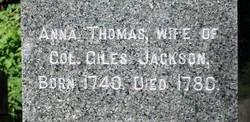 Anna <i>Thomas</i> Jackson
