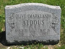 Olive <i>Markland</i> Aldous