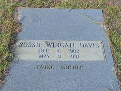 Rossie <i>Wingate</i> Davis