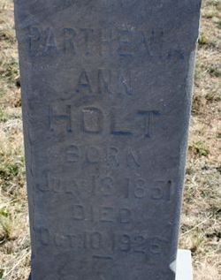 Parthenia Ann <i>Lowe</i> Holt