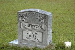 Zola Marie <i>Bleer</i> Underwood