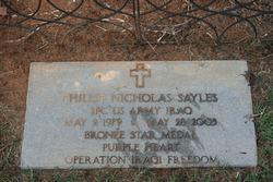 Spec Phillip Nicholas Sayles
