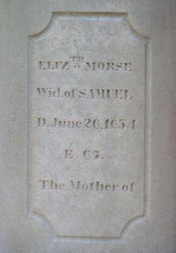 Elizabeth <i>Jasper</i> Morse