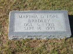 Martha D. <i>Fore</i> Bradley