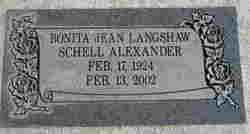 Bonita Jean <i>Langshaw Schell</i> Alexander