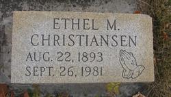 Ethel May <i>Groshart</i> Christiansen