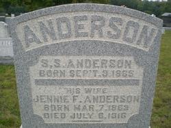 Jennie Frances <i>Roher</i> Anderson
