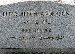 Eliza <i>Beech</i> Anderson