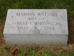 Marion <i>Watson</i> Whiting