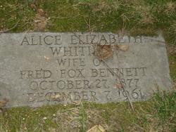 Alice Elizabeth <i>Whiting</i> Bennett
