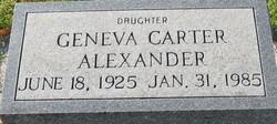 Geneva <i>Carter</i> Alexander