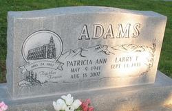 Patricia Ann <i>Leavitt</i> Adams
