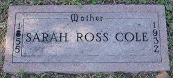 Sarah Helen <i>Ross</i> Cole