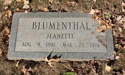Jeanette Bertha <i>Kahn</i> Blumenthal
