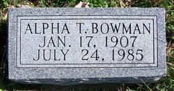 Alpha T Bowman