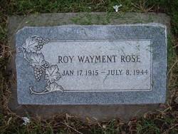 Roy Wayment Rose