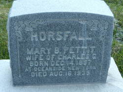 Mary Brower <i>Pettit</i> Horsfall