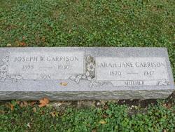 Sarah Jane Jennie <i>Mulligan</i> Garrison