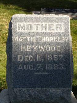 Mattie Seed <i>Thornley</i> Heywood