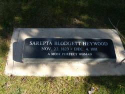 Sarepta Maria <i>Blodgett</i> Heywood