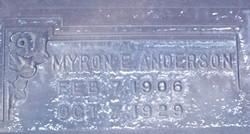 Myron E Anderson