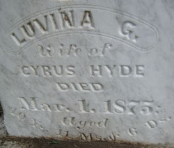 Luvina G. <i>Sayers</i> Hyde