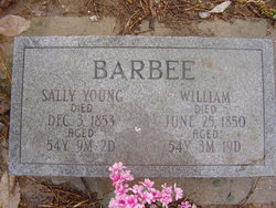 Sarah A. Sally <i>Young</i> Barbee