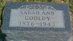 Sarah Ann <i>Toole</i> Gooldy