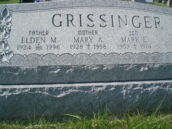 Mary Alice <i>Hess</i> Grissinger