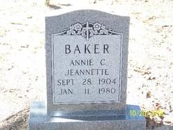 Annie C Jeannette Baker