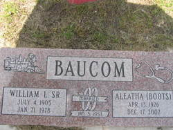 William <i>Lee</i> Baucom, Sr