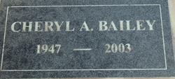 Cheryl Ann <i>Hill</i> Bailey