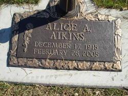 Alice A. <i>Butler</i> Aikins