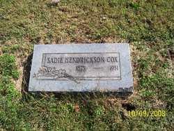 Sadie Suzanna <i>Hendrickson</i> Cox