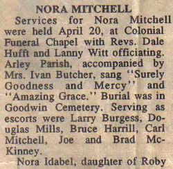 Nora <i>Bowman</i> Mitchell