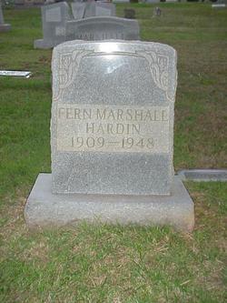 Fern Virginia <i>Marshall</i> Hardin