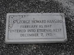 George Howard Hansard