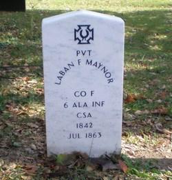 Pvt Laban Franklin Maynor