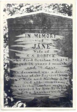 Jane <i>Leatherwood</i> Roebuck