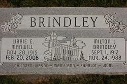 Libbie Elizabeth <i>Manwill</i> Brindley