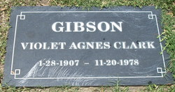 Violet Agnes <i>Clark</i> Gibson