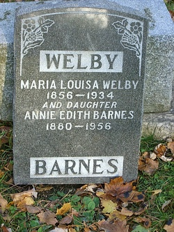 Annie Edith <i>Welby</i> Barnes