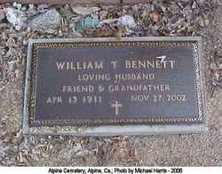 William T Bennett