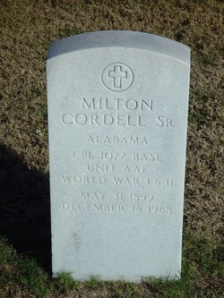 Milton Cordell, Sr