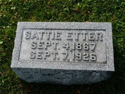 Sarah L Sattie <i>Allen</i> Etter