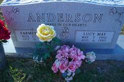 Lucy May <i>Maynor</i> Anderson